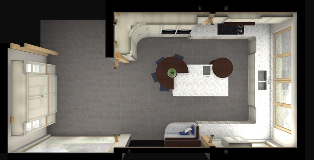 2D Top elevation Kitchen plan