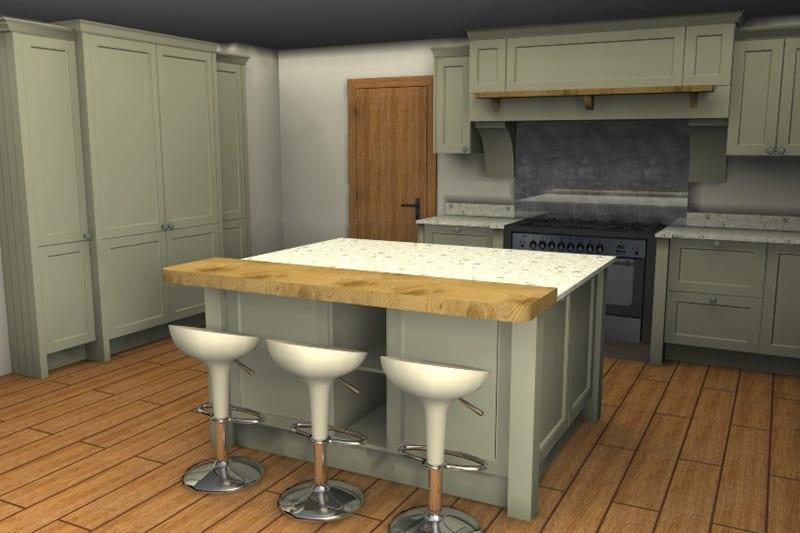 3D Kitchen Plan