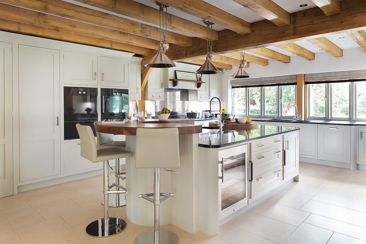 Kitchen with Built-In Wine Fridge
