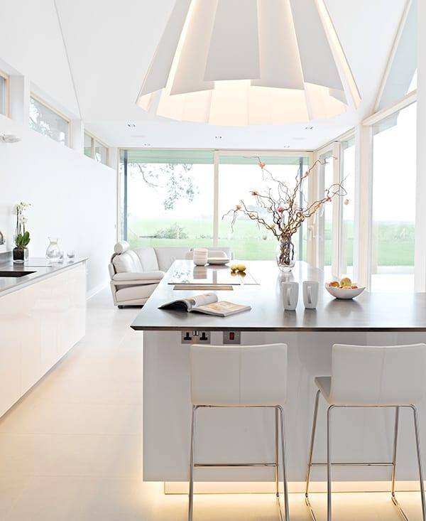 New Forest case study, modern kitchen island.