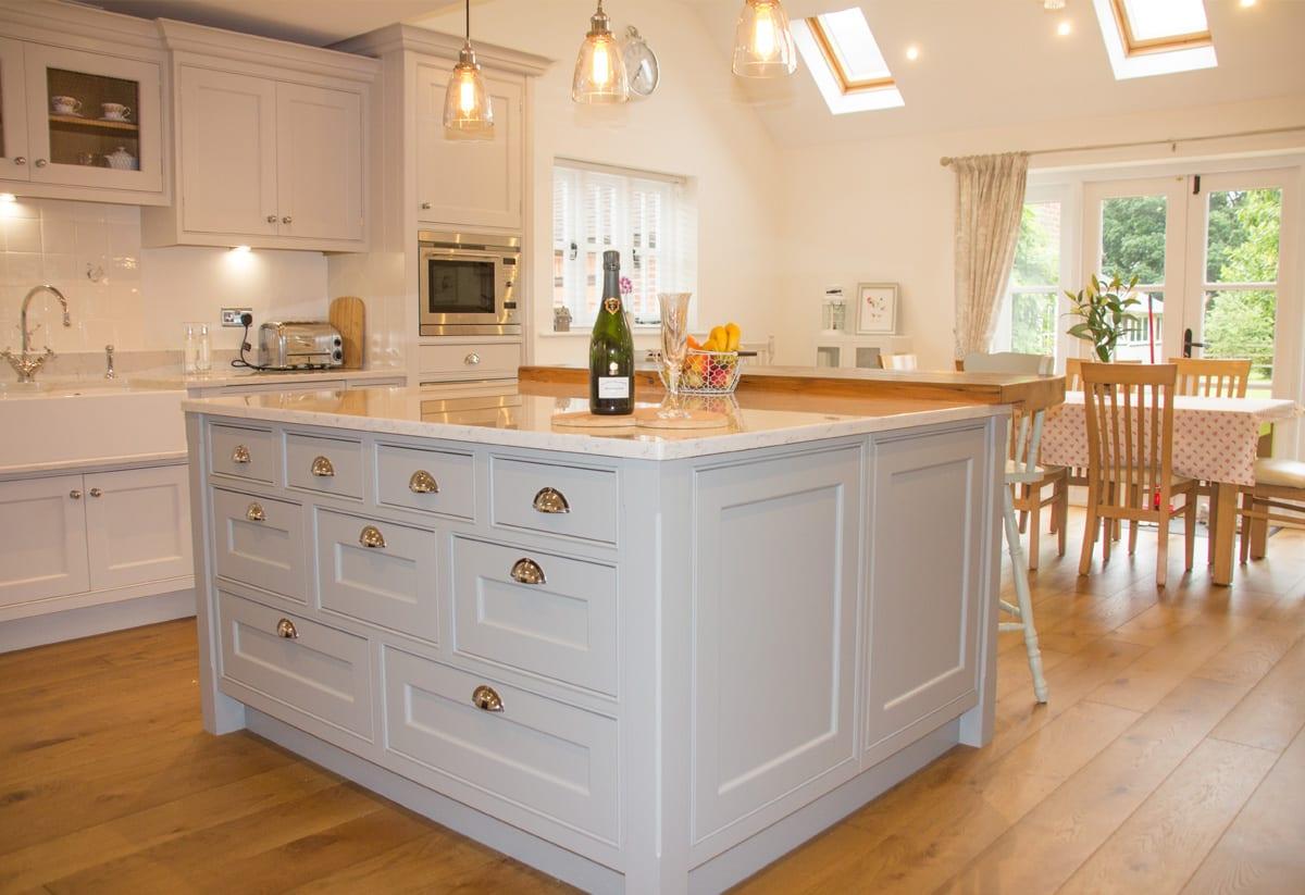 Farrow & Ball hand-painted kitchen island